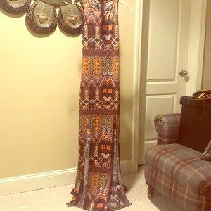 Egyptian split maxi dress